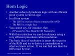 horn logic
