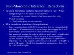 non monotonic inference retractions