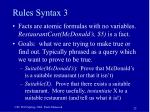 rules syntax 3