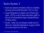 rules syntax 335