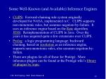some well known and available inference engines