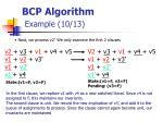 bcp algorithm example 10 13