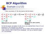 bcp algorithm example 11 13