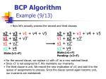 bcp algorithm example 9 13