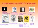 communities on orkut a sample