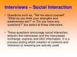 interviews social interaction