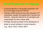 social perspective of language