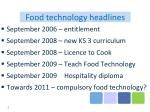 food technology headlines