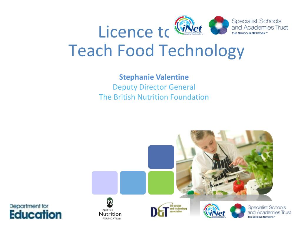 licence to cook teach food technology l.