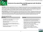 electronic document records management with workflow enabler