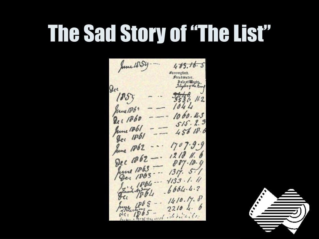 """The Sad Story of """"The List"""""""