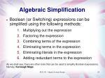 algebraic simplification24