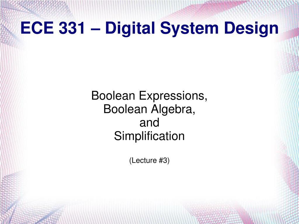 ece 331 digital system design l.