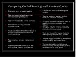 comparing guided reading and literature circles