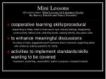 mini lessons good resource mini lessons for literature circles by harvey daniels and nancy steineke