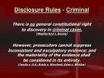 disclosure rules criminal