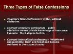 three types of false confessions