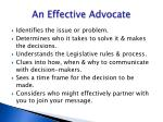 an effective advocate