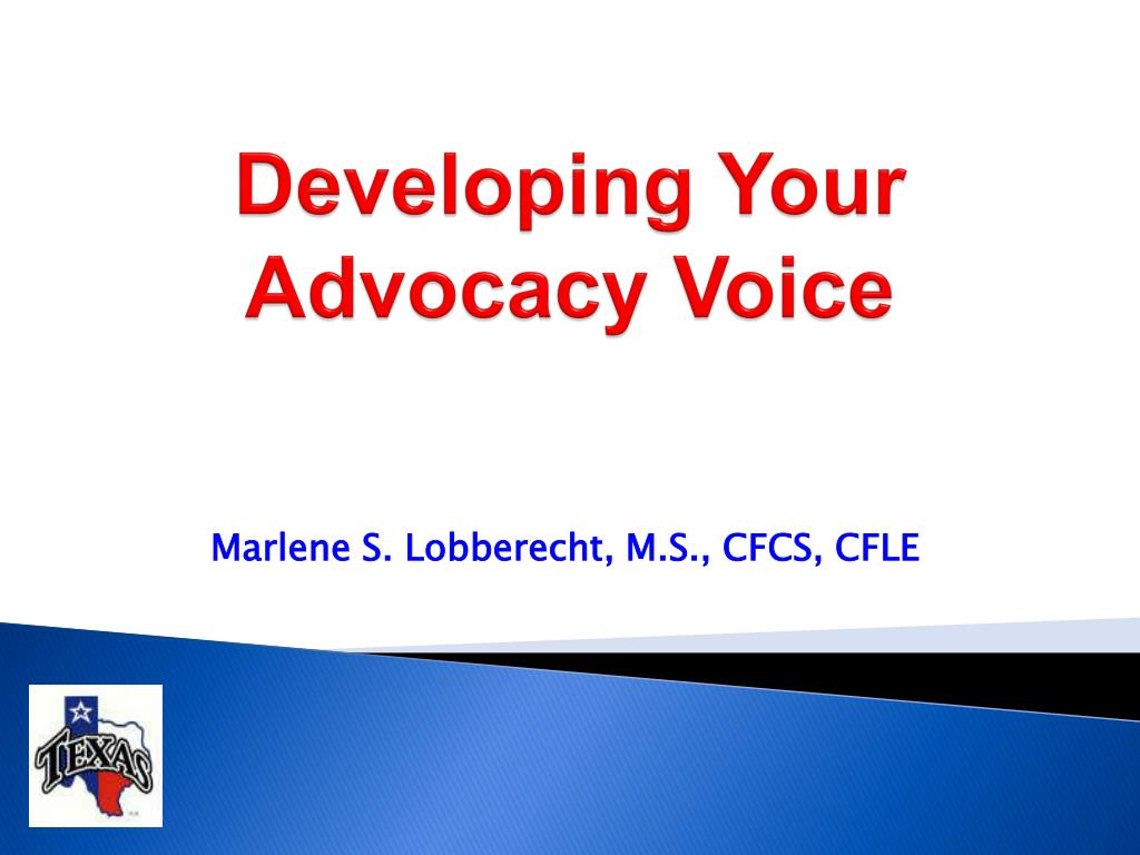 developing your advocacy voice l.