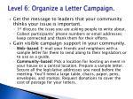 level 6 organize a letter campaign