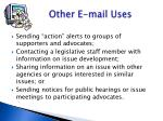 other e mail uses