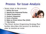 process for issue analysis