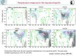 temperature response in the equatorial pacific