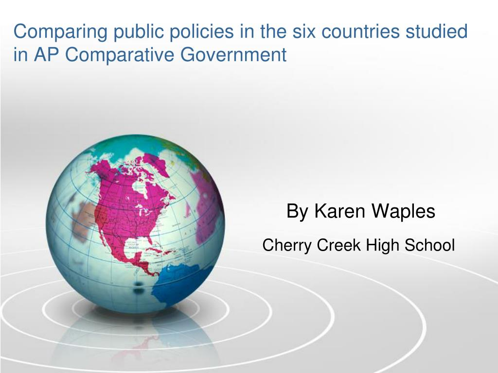 comparing public policies in the six countries studied in ap comparative government l.