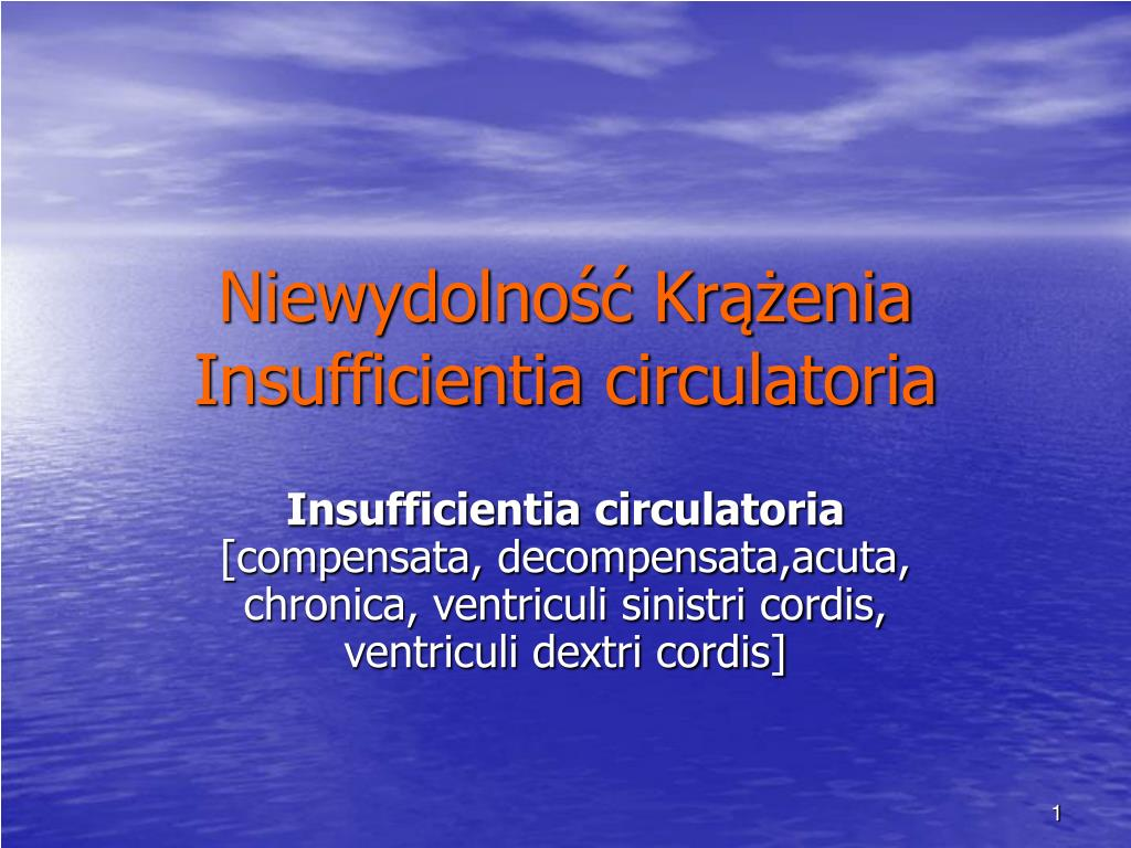 niewydolno kr enia insufficientia circulatoria l.