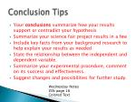 conclusion tips