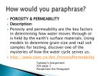 how would you paraphrase13