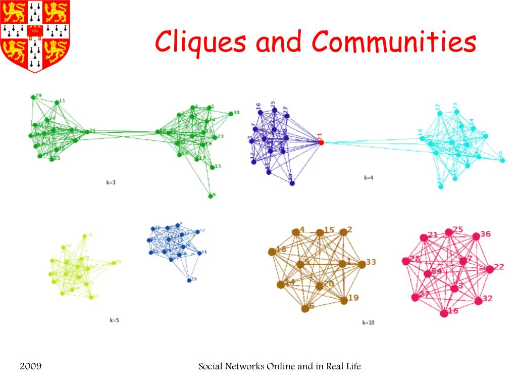 Cliques and Communities