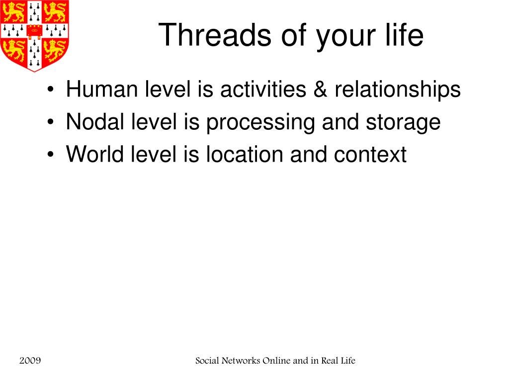 Threads of your life