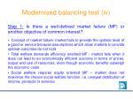 modernised balancing test iv