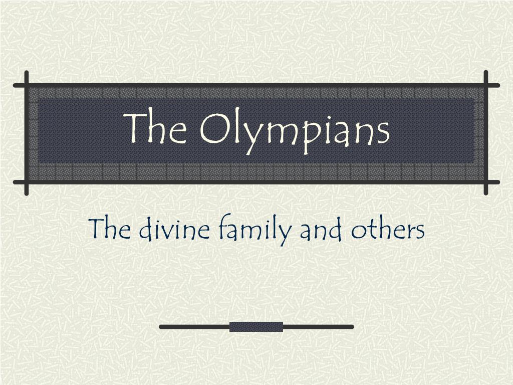 the olympians l.