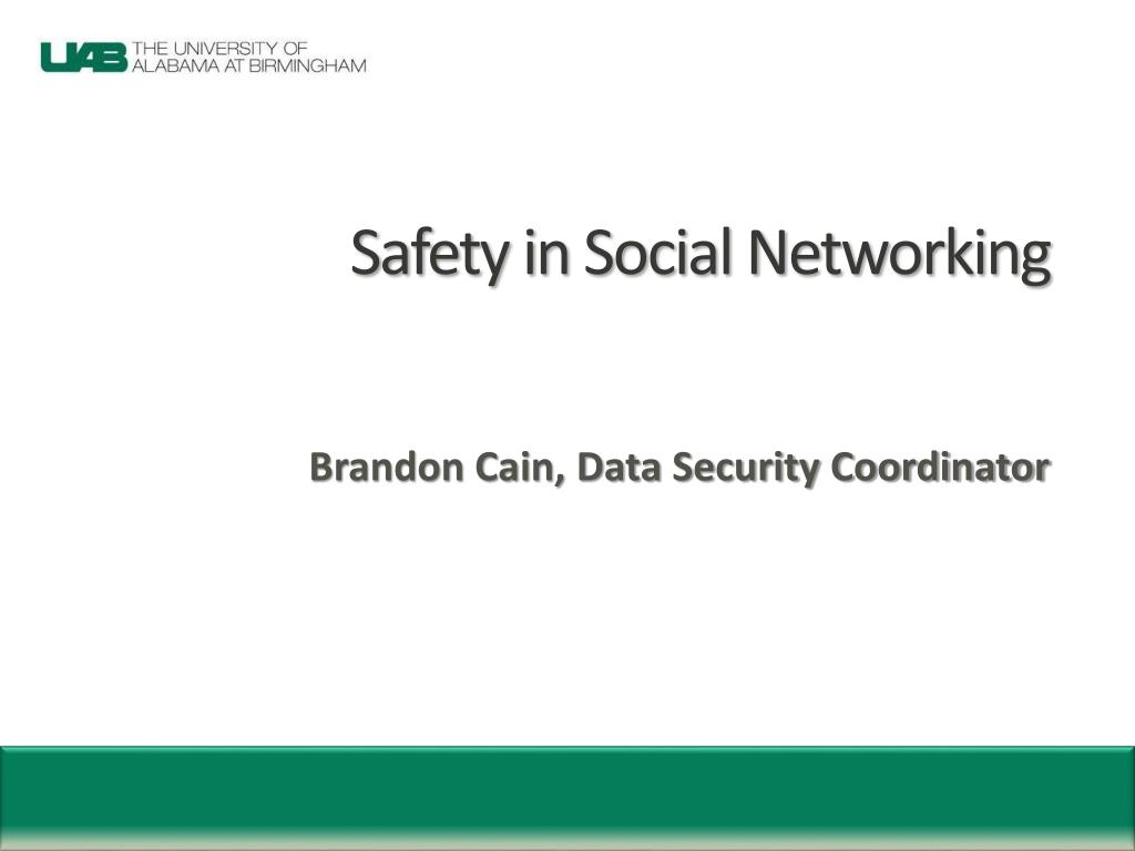 safety in social networking l.