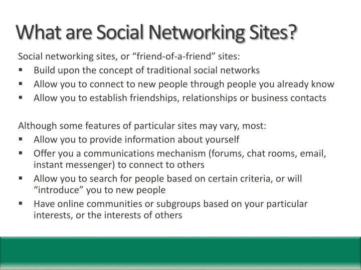 What are social networking sites