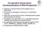 co operative governance contextualisation of rsa perspective