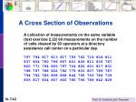 a cross section of observations