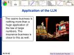 application of the lln