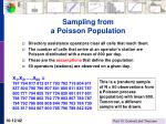 sampling from a poisson population