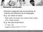 semantic universals