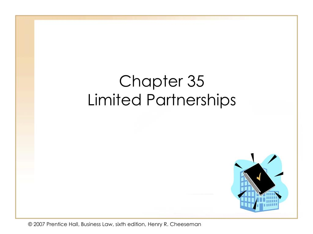 chapter 35 limited partnerships l.