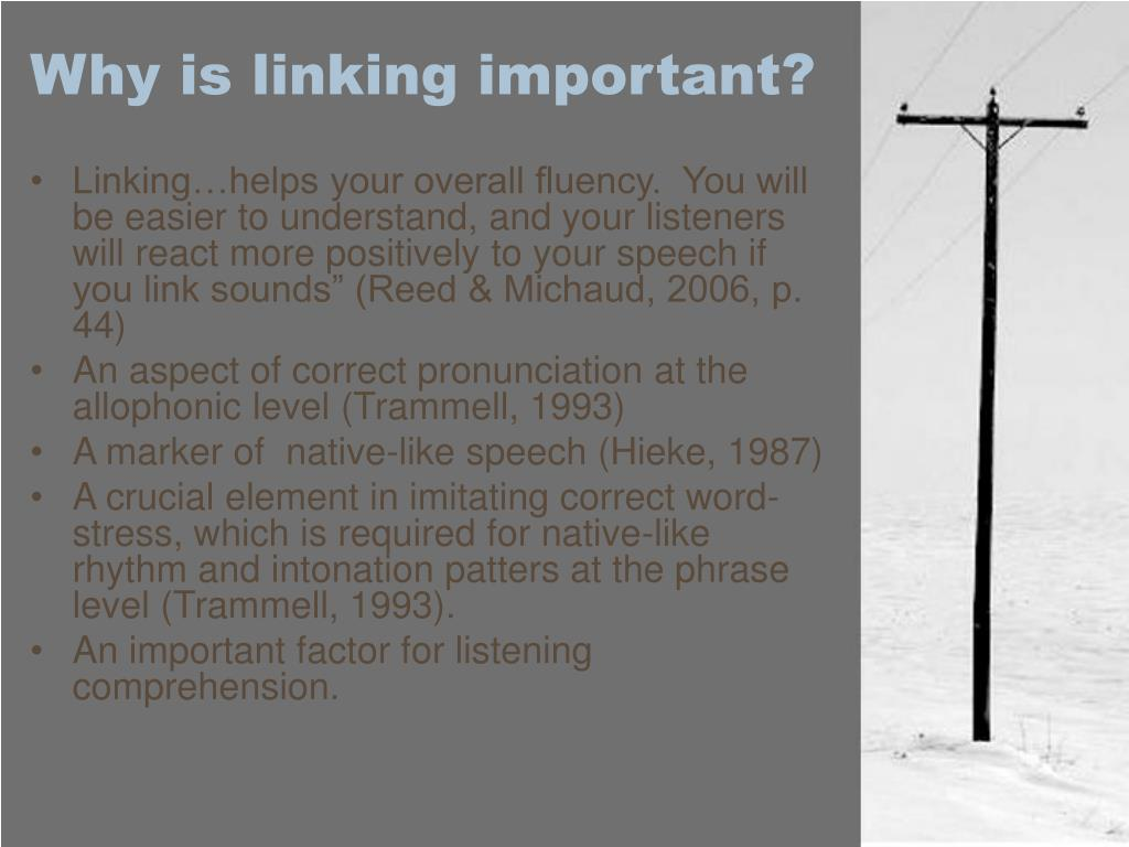 Why is linking important?