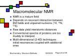 macromolecular nmr