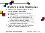 structure function relationships