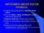 mentoring helps youth overall