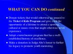 what you can do continued19