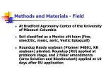 methods and materials field