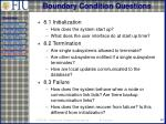 boundary condition questions